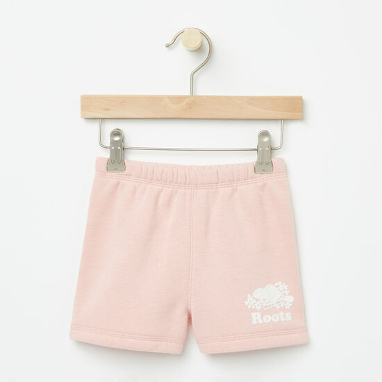 Roots-Kids Bottoms-Toddler Original Athletic Shorts-Silver Pink-A