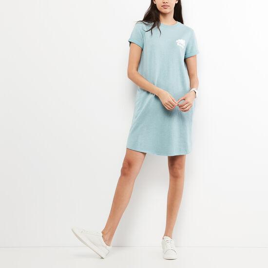 Roots-Women Dresses-Edith Cooper Dress-Stone Blue Mix-A