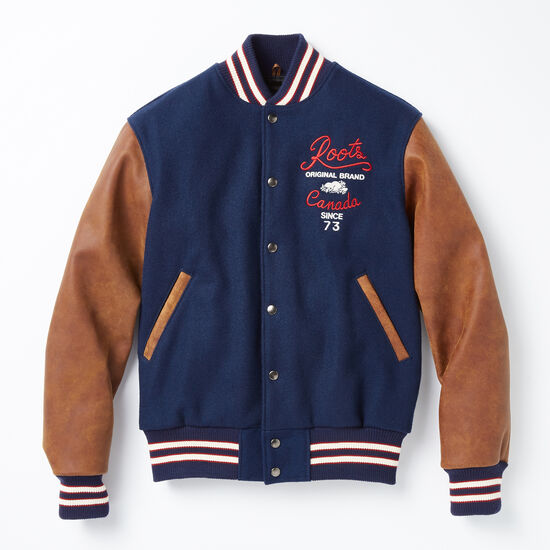Roots-Leather Leather Jackets-Roots Anniversary Jacket-Navy-A