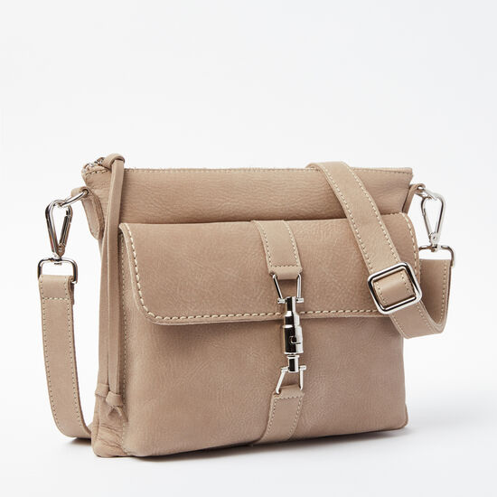 Roots-Women Shoulder Bags-The Charlotte Bag Tribe-Sand-A
