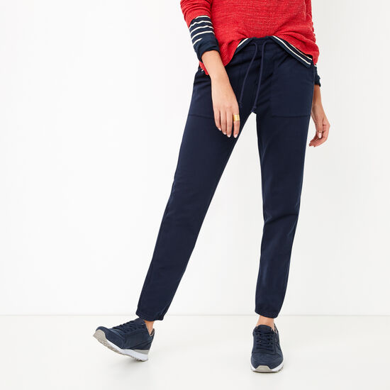 Roots-Women Bottoms-Kelby Twill Jogger-Navy Blazer-A