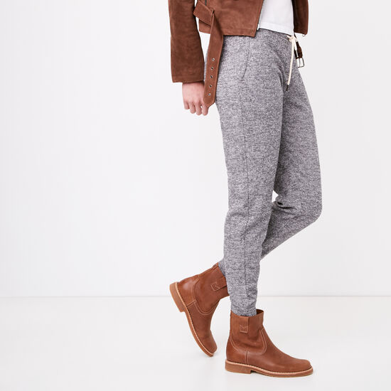 Roots-Women Slim Sweatpants-Elanor Pant-Grey Mix-A
