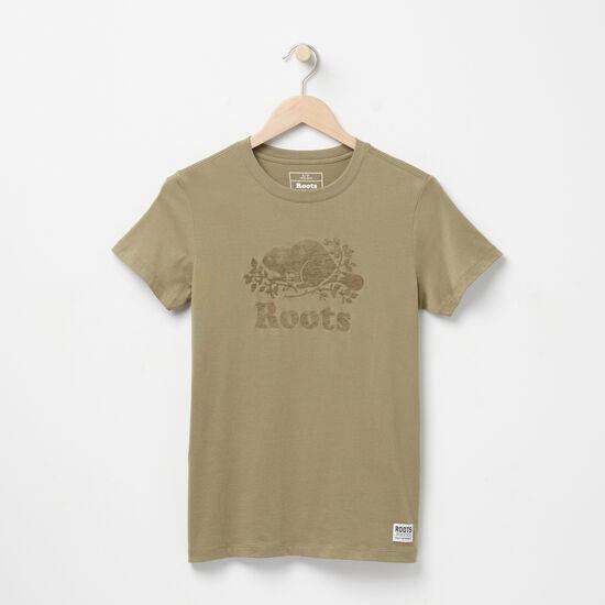 Roots-Women Graphic T-shirts-Cooper Beaver T-shirt-Lichen-A