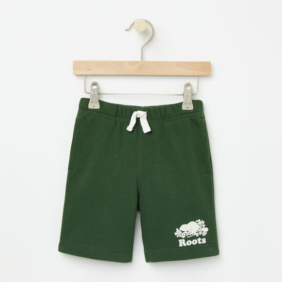 Roots-Kids Bottoms-Toddler Original Athletic Shorts-Camp Green-A