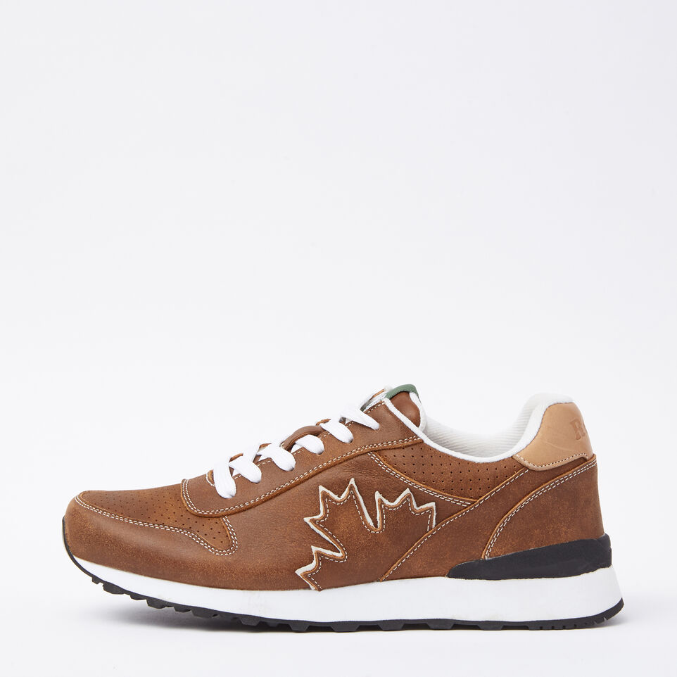 Roots-undefined-Chaussures de course Trans-Canadian en cuir Tribe pour hommes-undefined-A