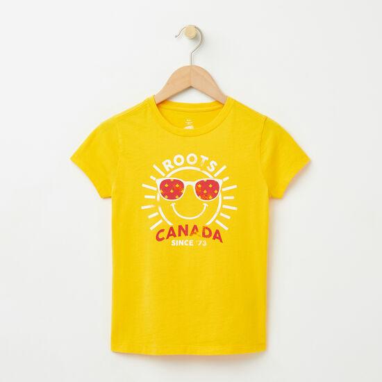 Roots-Kids T-shirts-Girls Sunshine T-shirt-Solar Power-A