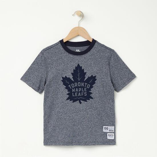 Roots-Kids T-shirts-Boys TML Centennial T-shirt-Navy Blazer Pepper-A