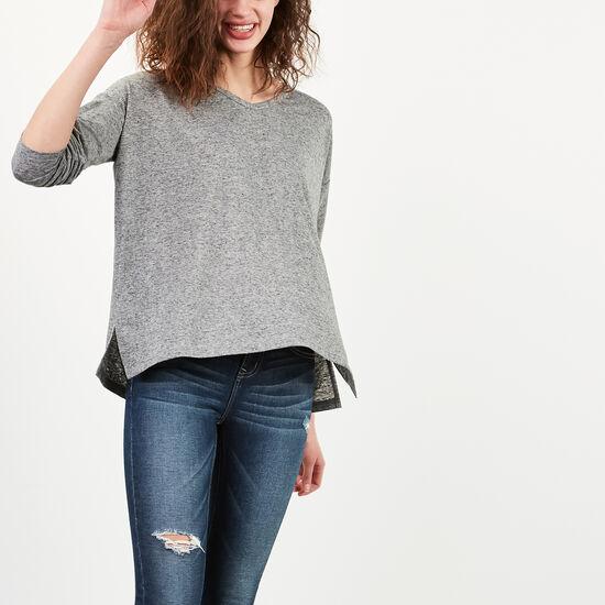 Roots-Women Long Sleeve T-shirts-Marissa Top-Black Mix-A