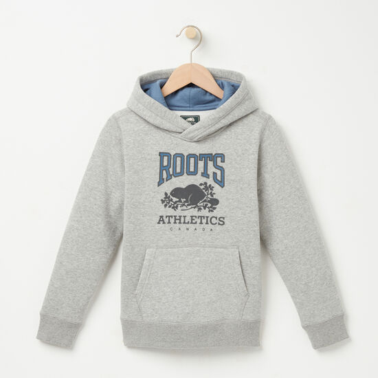 Roots-Kids Boys-Boys Cartwright Kanga Hoody-Grey Mix-A