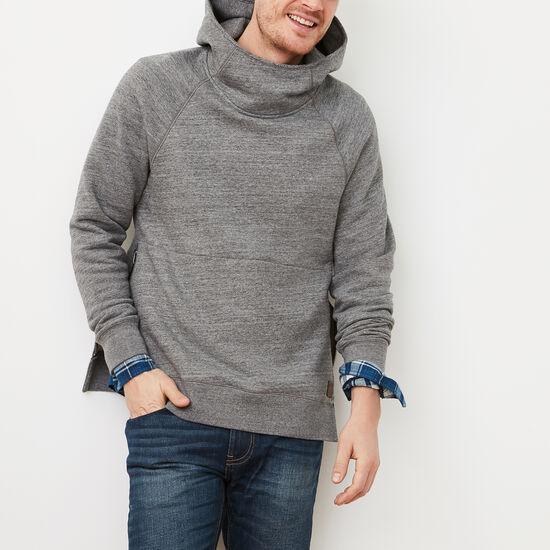 Roots-Men Sweatshirts & Hoodies-Junction Scuba Hoody-New Grey Pepper Mix-A