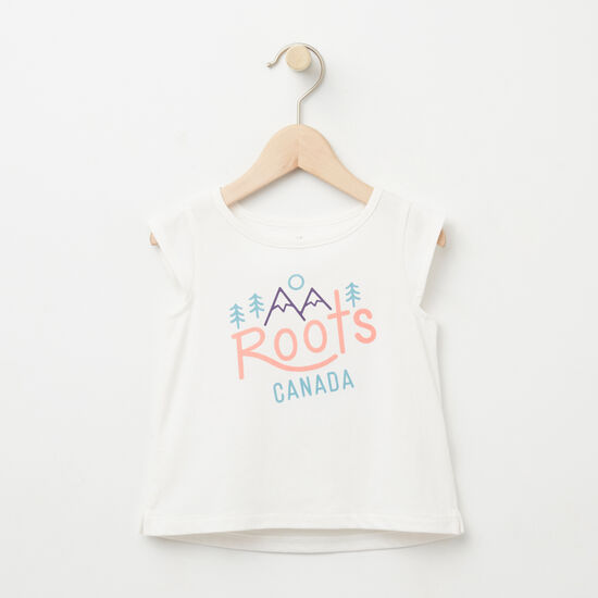 Roots-Kids Baby-Baby Juniper Folk Top-Cloudy White-A