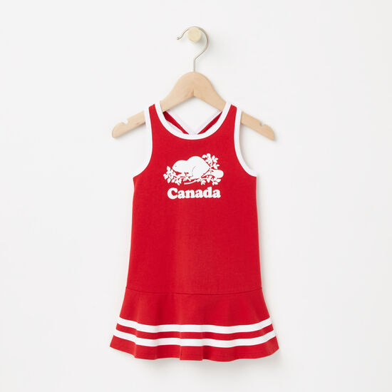 Roots-Kids Baby-Baby Cooper Canada Tank Dress-Sage Red-A