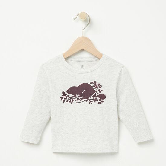Roots-Sale Kids-Baby Beaver Original T-shirt-White Mix-A