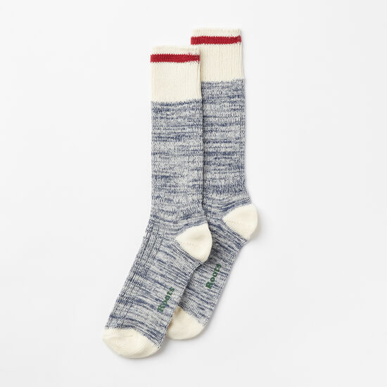 Roots-Women Socks-Womens Park Sock 2 Pack-Starnight Blue Mix-A