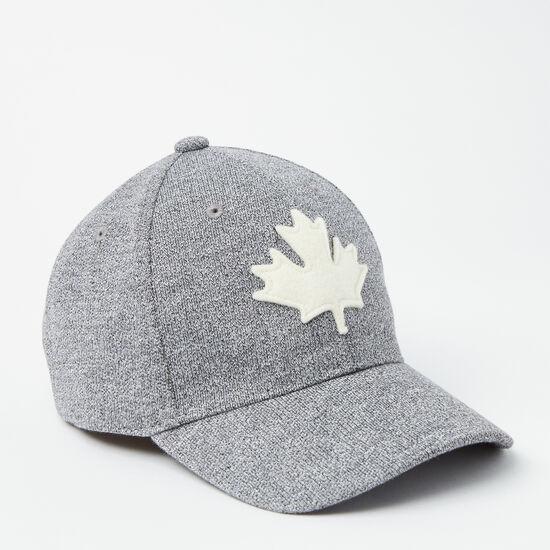 Roots-Kids Baby Boy-Toddler Canada Leaf Baseball Cap-Salt & Pepper-A