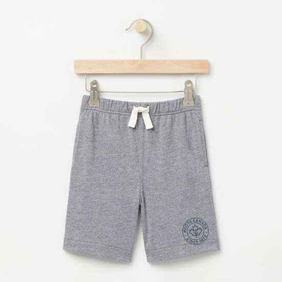 Roots-Kids Bottoms-Toddler Camp Pull On Shorts-Medium Grey Mix-A