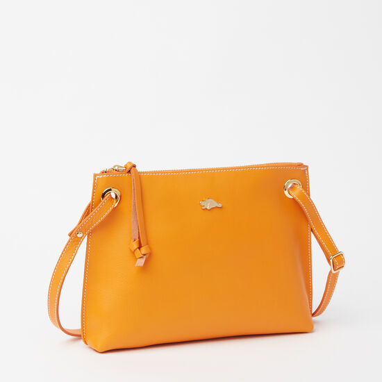 Roots-Leather Shoulder Bags-Edie Bag Bridle-Orange-A