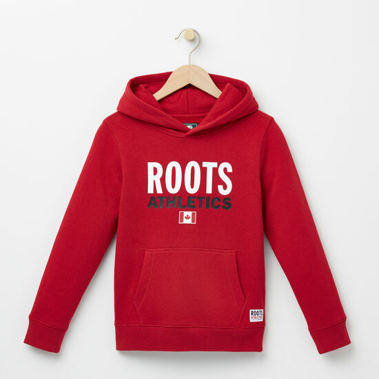 Roots-Kids Roots Re-issue-Boys Roots Re-issue Kanga Hoody-Scooter Red-A