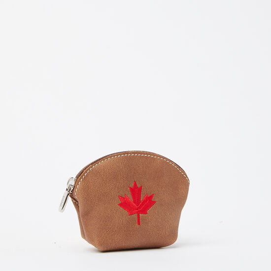 Roots-Women Leather-Maple Leaf Euro Pouch Tribe-Africa-A