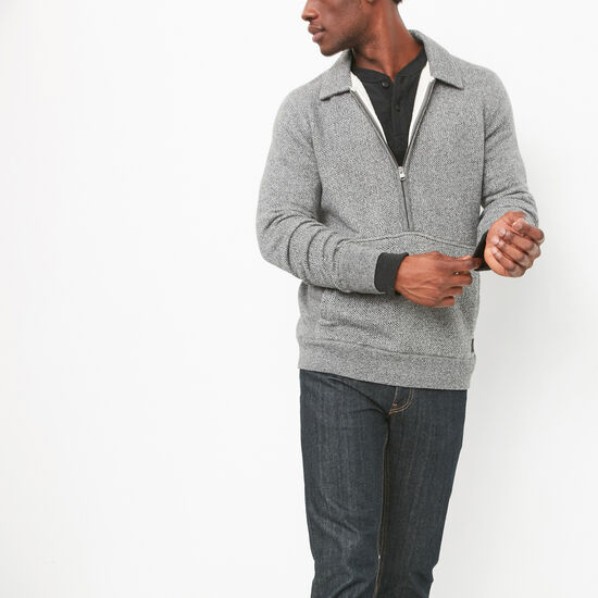 Mowat Herringbone 1/4 Zip Polo