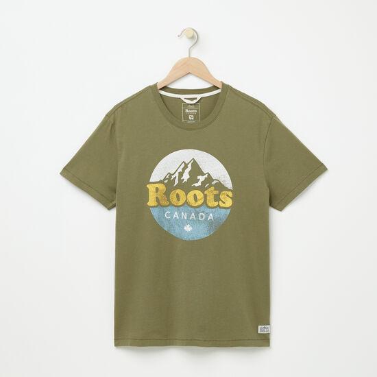 Roots-Men Graphic T-shirts-Morell Organic T-shirt-Lichen-A