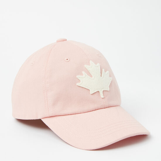 Roots-Kids Accessories-Toddler Canada Leaf Baseball Cap-Silver Pink-A