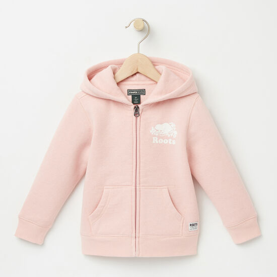 Roots-Kids Tops-Toddler Original Full Zip Hoody-Silver Pink-A