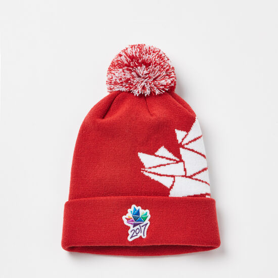 Roots-Men Hats-Ottawa 2017 Pom Pom Toque-Sage Red-A