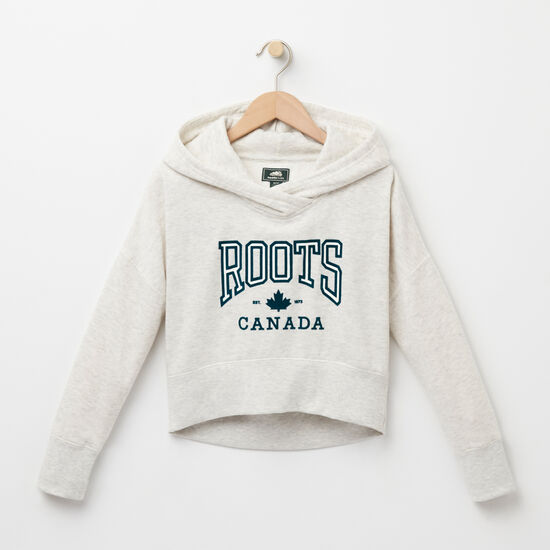 Girls Ella Maple Cropped Hoody