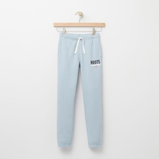 Roots-Kids Features-Girls Roots Re-issue Sweatpant-Celestial Blue-A