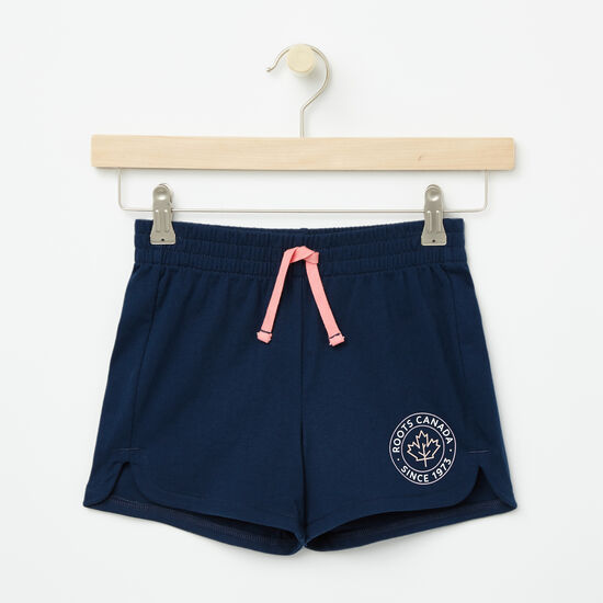 Roots-Kids Bottoms-Girls Lucy Shorts-Cascade Blue-A