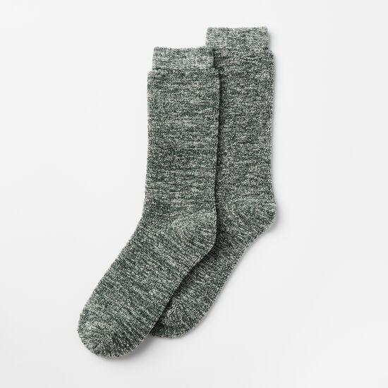 Roots-Men Socks-Mens Trail Crew Sock-Mountain View Green-A