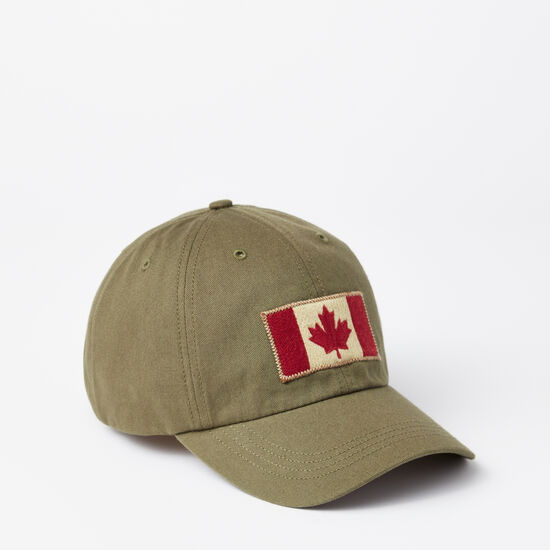 Roots-Men Accessories-Vintage Flag Baseball Cap-Ivy Green-A