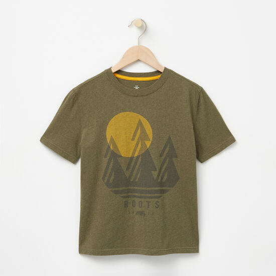 Roots-Kids New Arrivals-Boys Explore T-shirt-Ivy Green Mix-A