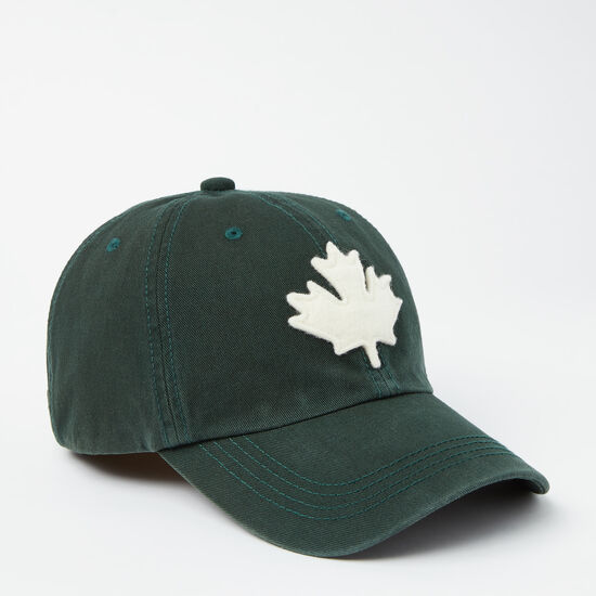Roots-Men Accessories-Canada Leaf Baseball Cap-Park Green-A