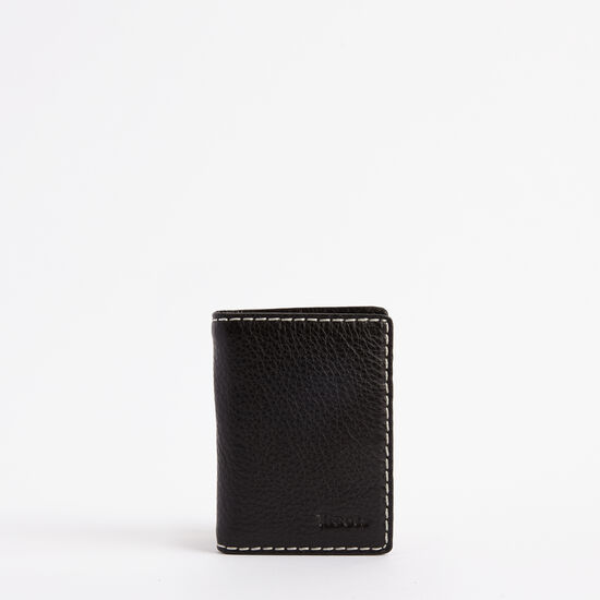 Roots-Men Wallets-Card Case With Id Prince-Black-A