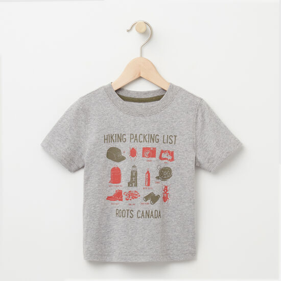 Roots-Kids T-shirts-Toddler Hiking Packing List T-shirt-Grey Mix-A