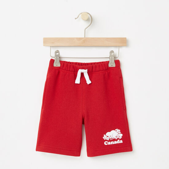 Roots-Kids Toddler Boys-Toddler Canada Original Athletic Shorts-Sage Red-A