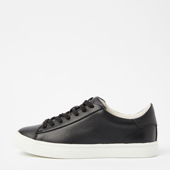 Roots-Shoes Women's Shoes-Womens Lace Up Sneaker Leather-Black-A