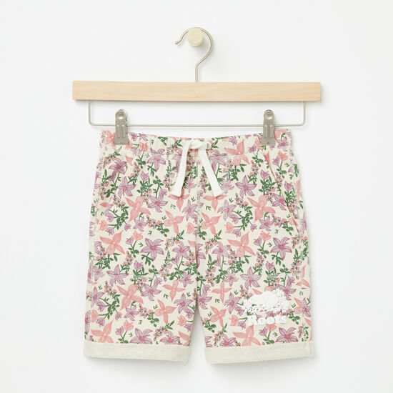 Roots-Kids Bottoms-Girls Valleyfield Shorts-Almond Milk-A