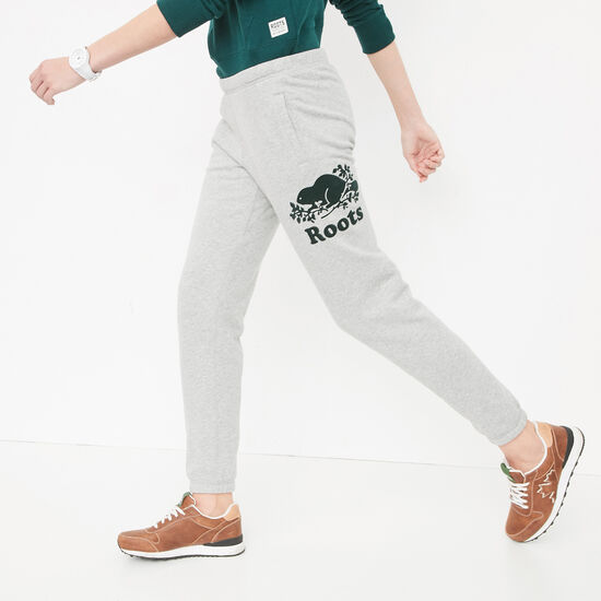 Roots-Women Slim Sweatpants-Cooper Roots Slim Sweatpant-Grey Mix-A