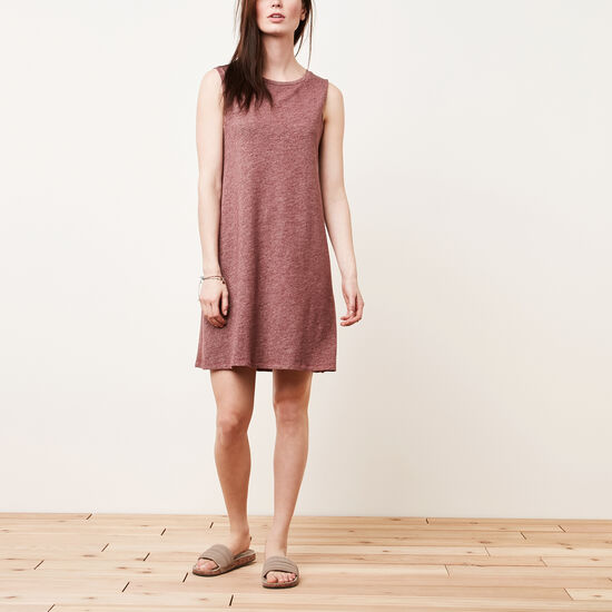 Roots-Femmes Robes-Robe Heather-Mélange Cramoisi-A