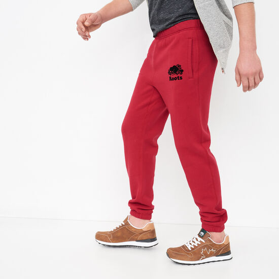 Roots-Men Slim Sweatpants-Slim Sweatpant-Lodge Red-A
