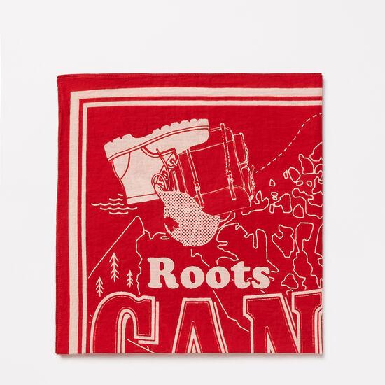 Roots-Women Accessories-Belleville Bandana-Sage Red-A