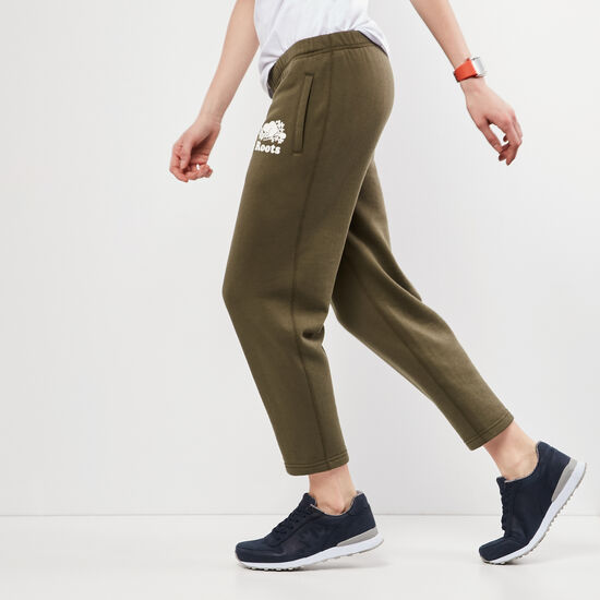 Roots-Women Slim Sweatpants-Original Ankle Sweatpant-Ivy Green-A