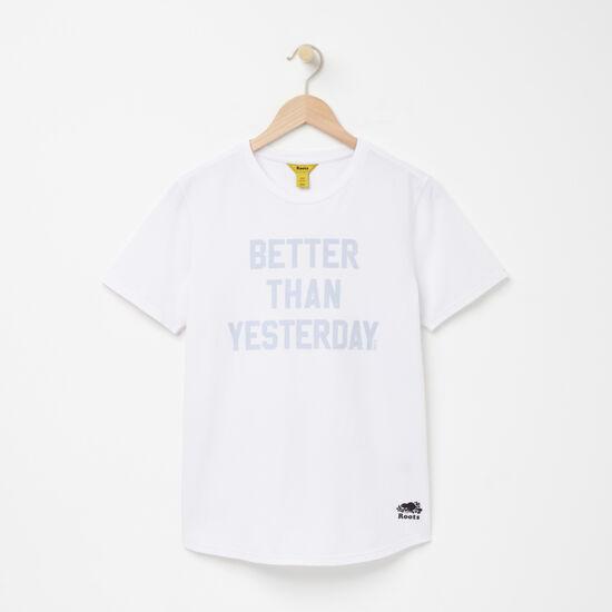 Roots-Women Active-Better Than Boyfriend T-shirt-White-A