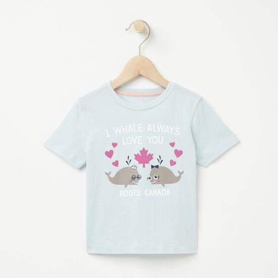 Roots-Kids T-shirts-Toddler Whale Love T-shirt-Starlight Blue-A