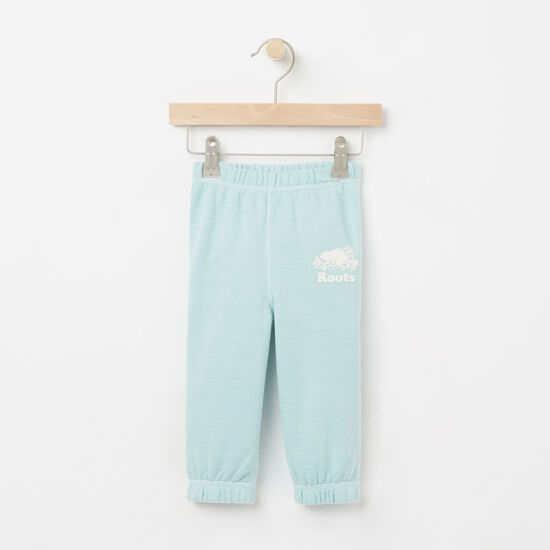 Roots-Kids Baby Girl-Baby Colour Pepper Original Sweatpant-Pastel Turquoise Ppr-A