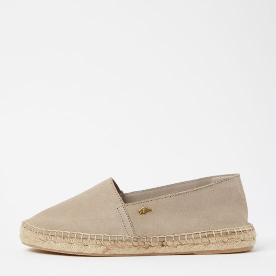 Roots-Shoes Women's Shoes-Womens Classic Espadrille Suede-Earth-A