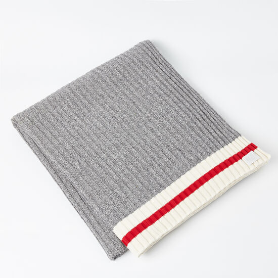 Roots-Women Roots Home-Tweed Cabin Blanket-Grey Mix-A